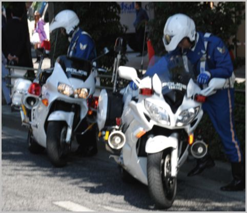 白バイの走り方でわかる交通違反の取締り危険度