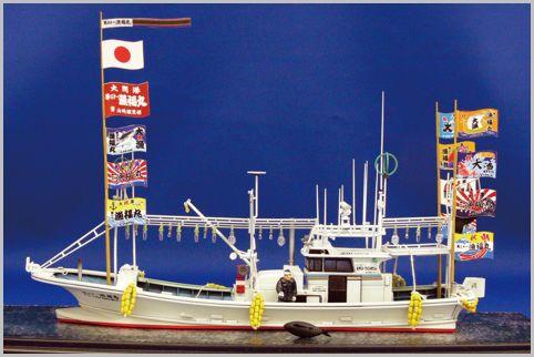 バニラ宣伝カーやマグロ漁船のプラモデルがある