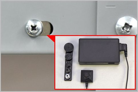 ネジ穴にレンズを仕込んだ防犯カメラの画質は?
