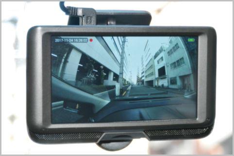 360度レンズで側道や車内も撮影できるドラレコ