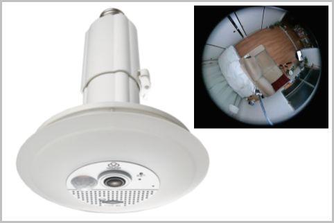 LED電球型防犯カメラはソケットに接続するだけ