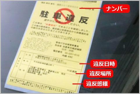 駐車禁止のステッカーでチェックすべき記載事項