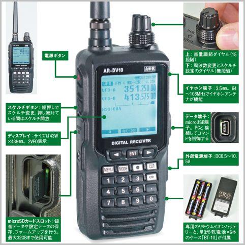デジタル受信機「AR-DV10」操作には慣れが必要