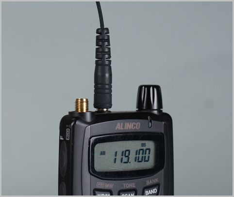 DJ-X7はポケットラジオのようなハンディ受信機