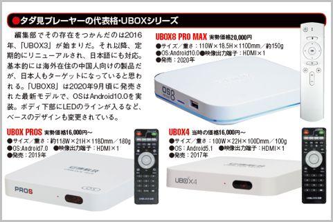 UBOXシリーズ最新モデル