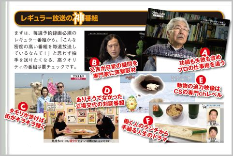 NHKで毎週録画したいレギュラー放送の神番組