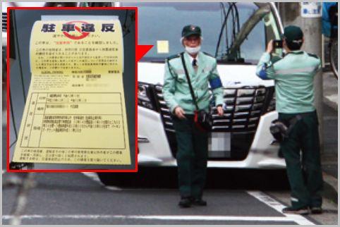 駐車違反ステッカーが貼られて取り消された事例