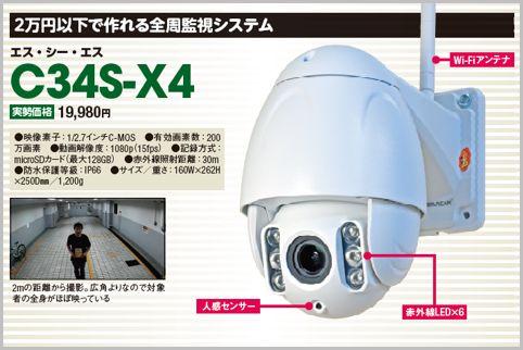 2万円以下で設置できる全周監視の防犯カメラ