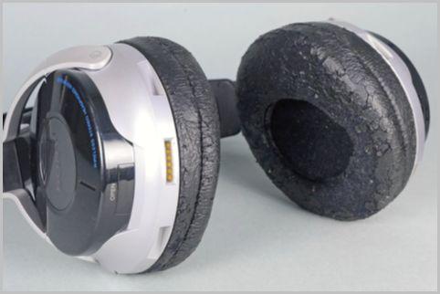 劣化したワイヤレスヘッドホンを新品同様に補修