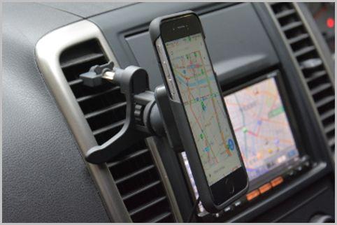ワイヤレス充電が可能なiPhone車載ホルダー