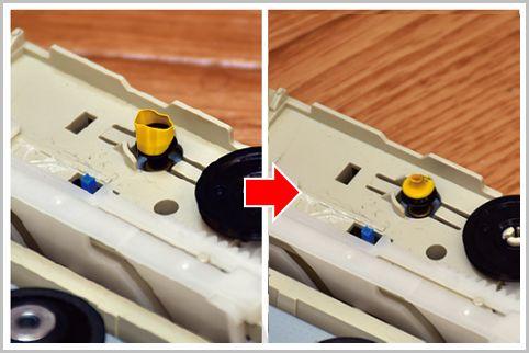光学ドライブのトレイ排出不良はゴムベルト修理