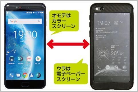 双面智能手机的正面是彩色液晶,背面是电子纸