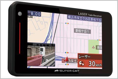レーザー式スピード取締り対応の探知機が登場!