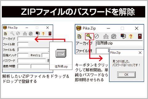 zipファイル pdf パスワード 突破