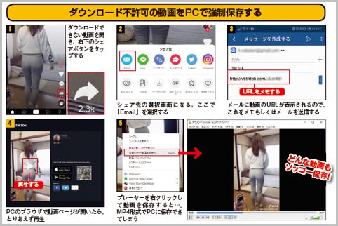 TikTokのあらゆる投稿動画を勝手に保存する方法