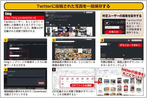 ツイッターに投稿された画像を一括保存する方法