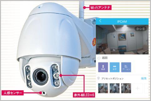2万円で全周監視をスマホ操作できる防犯カメラ