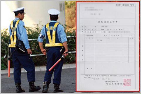 交通違反の累積点数がわかる「運転記録証明書」