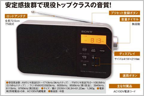 現役トップクラスの音質のソニー「ICF-M780N」