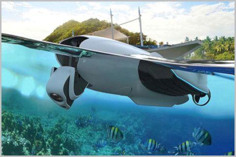 魚群探知機を搭載できる水中ドローン最新モデル