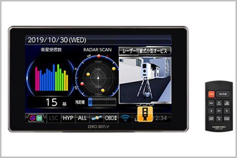 レーザー式に対応したレーダー探知機が新登場!