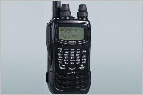 エアーバンド2波同時受信の入門機「DJ-X11A」