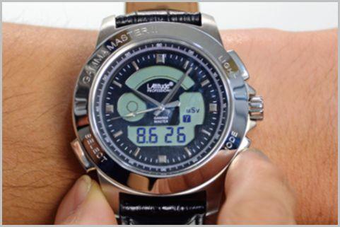 積算線量も測定できる腕時計タイプ放射線測定器