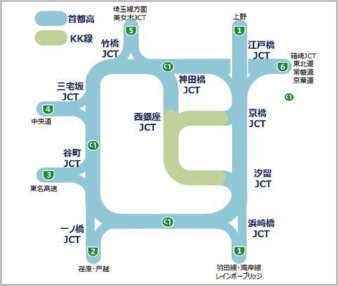 首都高速道路に存在する無料区間「KK線」とは?