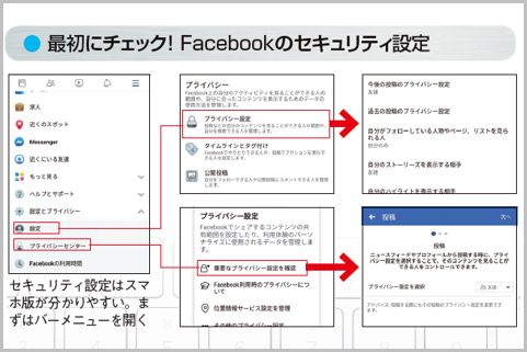 Facebookのセキュリティ設定はスマホ版が簡単