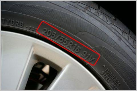 タイヤの最高速度を側面の記号から読み取る方法
