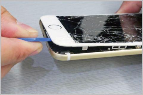 iPhoneフロントパネルとバッテリーを自力で修理