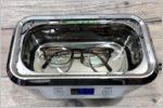 家庭用「超音波洗浄機」の眼鏡の汚れの落ち具合