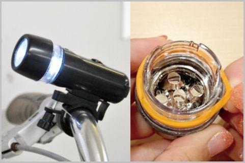 100均自転車ライト「指サック」で防水仕様に改造