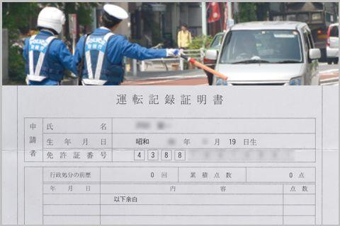 運転免許の点数がわかる「運転記録証明書」とは