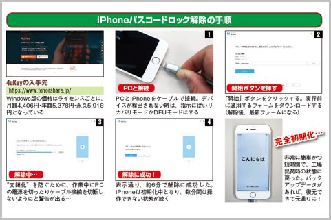 iPhoneのパスコードロックを強制解除する方法