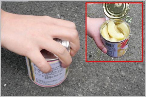 缶切りがなくても素手で缶詰のフタを開ける方法