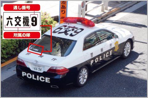 警視庁のパトカーは窓にある記号で危険度を判別