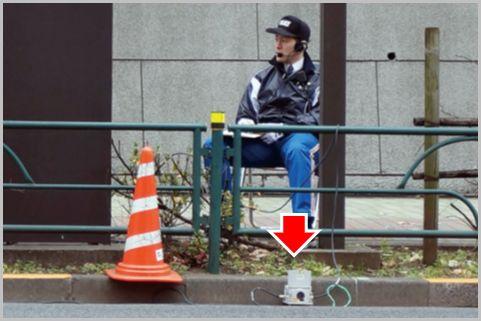 警察の「ネズミ捕り」は路肩のコーンで察知する