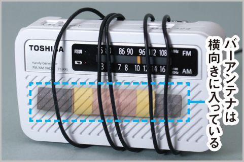 ラジオを簡単に感度アップできるアンテナ調整法