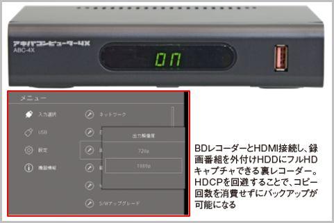 裏コマンド付き「HDMI裏レコーダー」3大ブランド