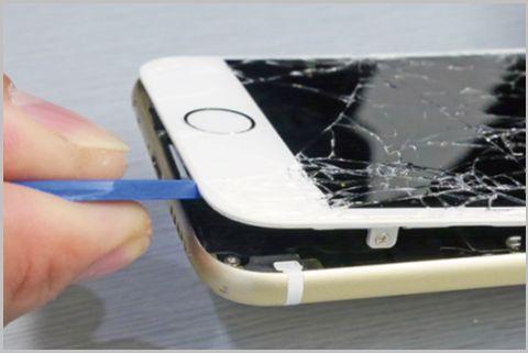 割れたiPhoneフロントパネルを自力交換する方法