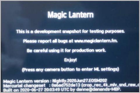 キヤノンのカメラ機能拡張「Magic Lantern」とは