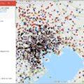 警察の「Nシステム」の全端末を網羅したマップ
