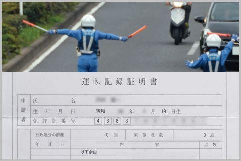 運転免許の点数を確認「運転記録証明書」取り方