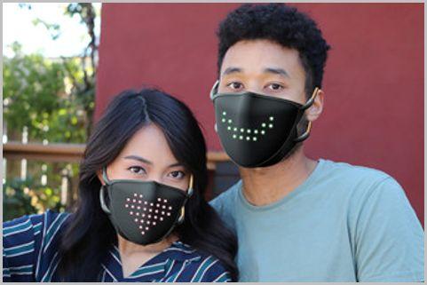 LED表示で隠れた表情を伝えられる高機能マスク