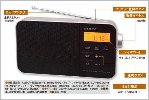 ソニーのポータブルラジオが高音質な理由とは?