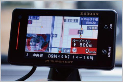 ドラレコ付きレーザー対応レーダー探知機で実走