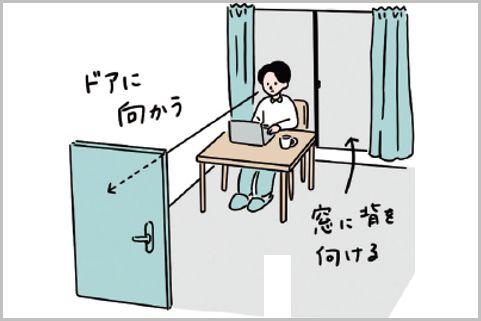 在宅ワークで集中力を高めるための机の配置は?