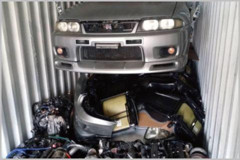 盗難車をパーツにバラして輸出するルートと手口