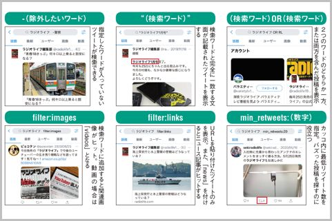 「Twitter検索コマンド」画像ツイートだけ表示